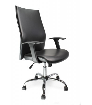 TOR SHIRT-TAIL LEATHER FACED EXECUTIVE ARMCHAIR