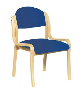 BEECH FRAMED STACKABLE SIDE CHAIR