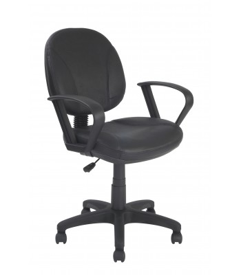 TIMOR LEATHER FACED OPERATOR CHAIR