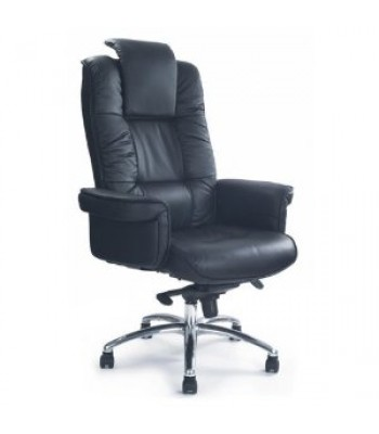 HERCULES LEATHER FACED GULL WING EXECUTIVE ARMCHAIR