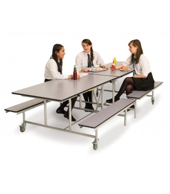 RECTANGULAR MOBILE FOLDING BENCH UNIT