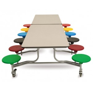 FOLDING TABLE SEATING UNITS