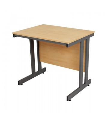 Astral Double Cantilever Frame Crescent Extension Desk