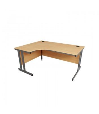 Astral Double Cantilever Frame Crescent Desk