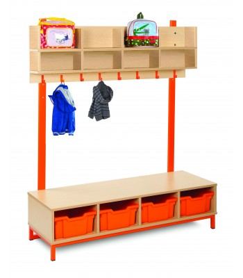 CLOAKROOM TOP WITH DEEP TRAYS