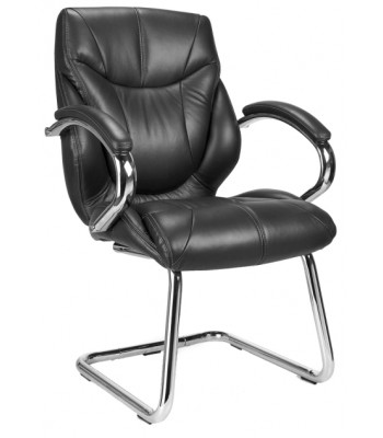 SANDOWN LEATHER FACED VISITORS CHAIR