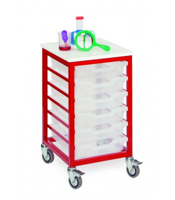 MOBILE METAL TRAY STORAGE UNITS