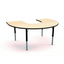 HEIGHT ADJUSTABLE HORSESHOE TABLES