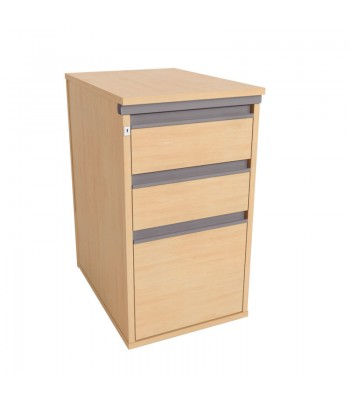 Galaxy Desk High 3 Drawer Pedestal
