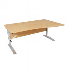 Height Adjustable Wave Desks