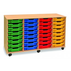 WOODEN TRAY STORAGE UNITS