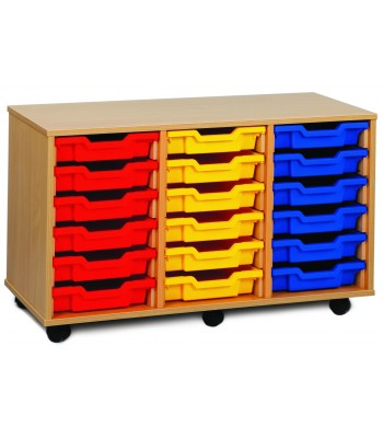 3 COLUMN TRAY STORAGE UNITS