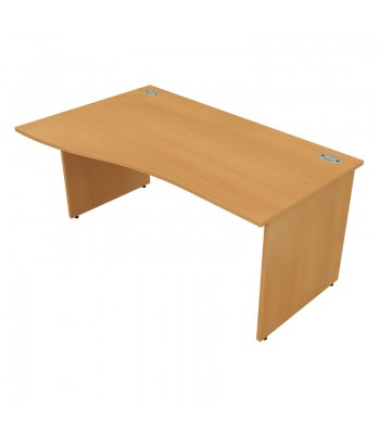 Satellite Panel End Wave Desk