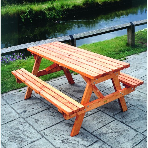 how to make a wooden picnic bench