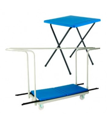50 TITAN EXAM DESK & TROLLEY BUNDLE - £1385.00