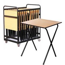 20 Folding Exam Desks & Trolley Bundle - £419.95