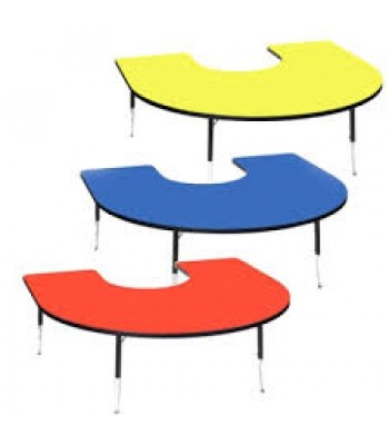 HEIGHT ADJUSTABLE HORSESHOE TABLES